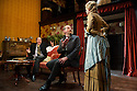 """""""In the Next Room' or """"The Vibrator Play"""" has its UK premiere at the Ustinov Studio Theatre, Bath. Written by Sarah Ruhl and Directed by Laurence Boswell. Picture shows: Tom Hodgkins (Mr Daldry), Paul Hickey (Dr Givings), Katie Lightfoot (Catherine Givings)."""