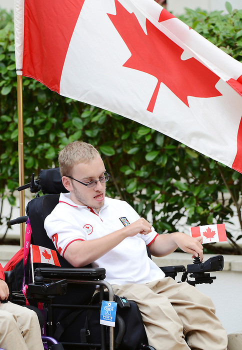 LONDON, ENGLAND – 08/26/2012:  Adam Dukovich at Canada's Pep-Rally before the London 2012 Paralympic Games. (Photo by Matthew Murnaghan/Canadian Paralympic Committee)