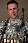 SGT Peden, Andrew 28 Fort Wayne, IN. Charlie Co. 1st Battalion 12th Infantry Regiment, 4th Infantry Division. Photographed at Combat Outpost JFM in Zhari District, Kandahar, Afghanistan.