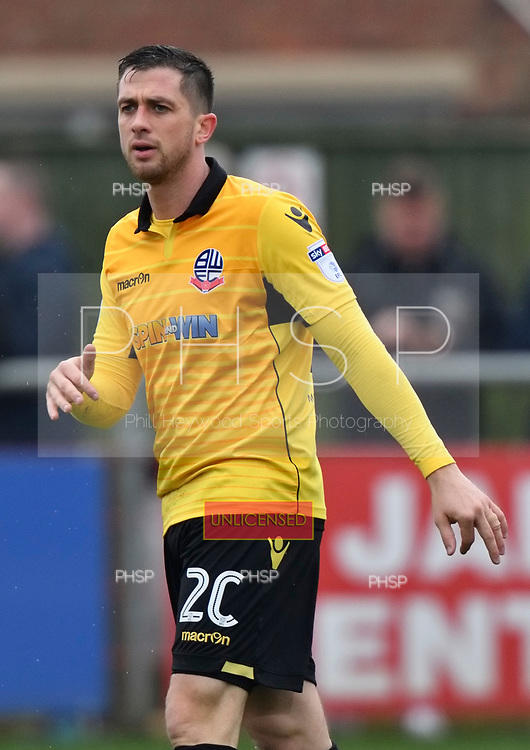 11/03/2017 Sky Bet League 1 Fleetwood Town v Bolton Wanderers<br /> <br /> Andrew Taylor, Bolton Wanderers FC