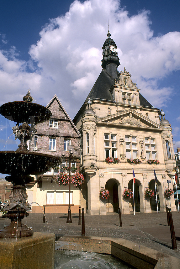 France Beautiful Hotel de Ville in town of Peronne France