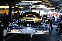 May 18, 2014; Commerce, GA, USA; NHRA funny car driver Alexis DeJoria during the Southern Nationals at Atlanta Dragway. Mandatory Credit: Mark J. Rebilas-USA TODAY Sports