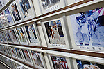 Photos of Akita ini that have entered local shows are displayed on the wall of the Akita ini Hall in Odate City, Akita Prefecture Japan.  Photographer: Rob Gilhooly