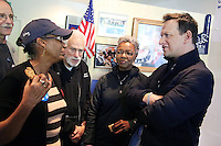 ELKINS PARK, PA - NOVEMBER 4 : Actor Josh Charles, best known for his roles in The Good Wife and Sports Night, pictured campaigning for Hillary Clinton and laying out the stakes of this election and Clinton's vision for an America that is stronger together, while warning that the divisive, hateful rhetoric Donald Trump has used on the campaign trail shows he is unfit to be president at the Elkins Park Coordinated Campaign Office in Elkins Park, Pa on November 4, 2016  photo credit Star Shooter/MediaPunch