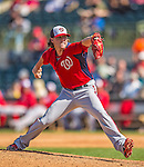 7 March 2013: Washington Nationals pitcher Drew Storen on the mound during a Spring Training game against the Houston Astros at Osceola County Stadium in Kissimmee, Florida. The Astros defeated the Nationals 4-2 in Grapefruit League play. Mandatory Credit: Ed Wolfstein Photo *** RAW (NEF) Image File Available ***