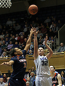 Tricia Liston takes a shot in the second half. Duke woman's basketball beat Virginia 77-66 on Monday, January 2, 2012 at Cameron Indoor Stadium in Durham, NC. Photo by Al Drago.