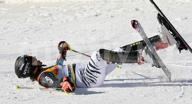 Ski Alpin; Saison 2006/2007  Slalom Herren JUBEL, Felix Neureuther (GER) belegt Platz 3. am Boden im Zielraum