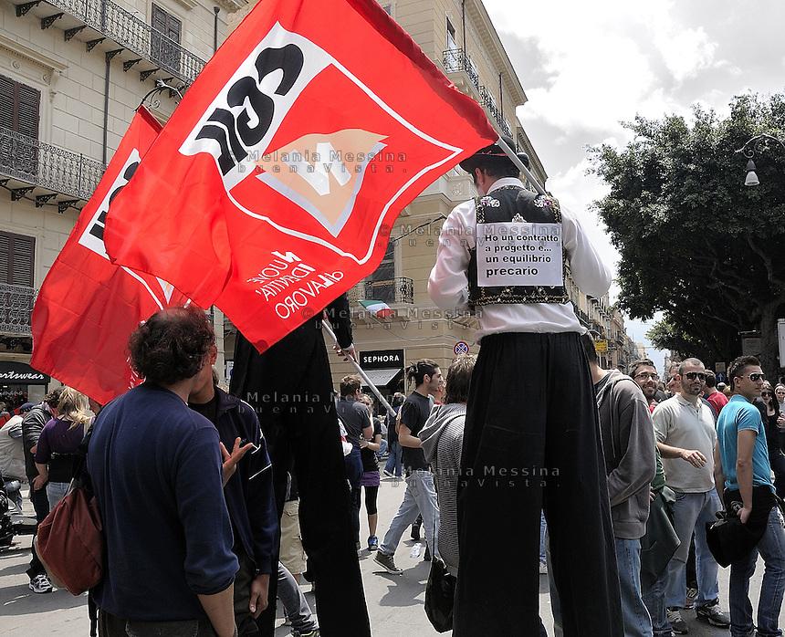 Palermo, general strike of CGIL trade union.<br /> Palermo, sciopero generale della CGIL