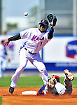 7 March 2010: New York Mets' infielder Luis Castillo in action during a Spring Training game against the Washington Nationals at Tradition Field in Port St. Lucie, Florida. The Mets edged out the Nationals 6-5 in Grapefruit League pre-season play. Mandatory Credit: Ed Wolfstein Photo