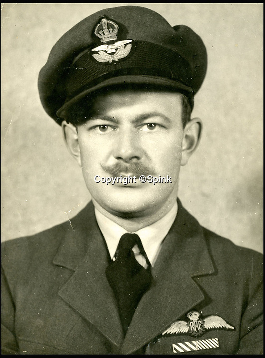 BNPS.co.uk (01202 558833)<br /> Pic: Spink/BNPS<br /> <br /> ***Please Use Full Byline***<br /> <br /> Squadron Leader R. F. Hamlyn.<br /> <br /> The remarkable story of a prolific RAF hero who achieved 'ace' status in just two-and-a-half hours of flying has come to light after his medals were put up for sale.<br /> <br /> Squadron Leader Ronald Fairfax Hamlyn went up in his Spitfire three times on August 24, 1940, at the very height of the Battle of Britain.<br /> <br /> He was awarded the Distinguished Flying Medal which, along with the rest of his medals, is being sold in London for an estimated &pound;60,000.