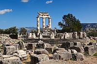 The Tholos of Athena Pronaia (380 B.C.) in Delphi, Greece