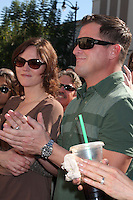 Jorja Fox, George Eads at  the Hollywood Walk of Fame Star Ceremony for WIlliam Petersen in front of Musso's & Franks Resturant in Los Angeles, CA on .February 3, 2009.©2008 Kathy Hutchins / Hutchins Photo..
