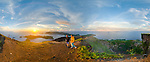 360-degree panormic view from the summit of Gunung Api, the volcano that forms the heart of the Banda Islands. Run Island, visible in the far distance, was once traded for Manhattan.