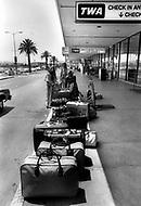 June 1978. Los Angeles, California, USA. Sheila at Los Angeles Airport (LAX).
