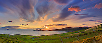 panoramic sunset overlooking st finians bay with view on the great skelligs southwest kerry geopark ireland / bs038 I love the Skelligs,