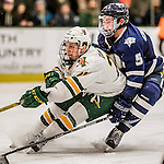 10 February 2017: University of Vermont Catamount Forward Rob Darrar, a Junior from Monroe Township, NJ, in second period action against the University of New Hampshire Wildcats at Gutterson Fieldhouse in Burlington, Vermont. The Catamounts fell to the Wildcats 4-2 in the first game of their 2-game Hockey East Series. Mandatory Credit: Ed Wolfstein Photo *** RAW (NEF) Image File Available ***