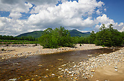 East Branch of the Pemigewasset River in Lincoln, New Hampshire USA during the summer months