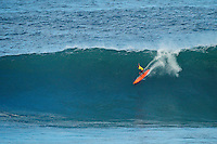 """Waimea Bay, Haleiwa, Oahu, Hawaii (Thursday January 20, 2011) Former winner and brother of Eddie, Clyde Aikau (HAW)..George Downing (HAW) , Contest Director of The Quiksilver In Memory of Eddie Aikau,has called a """"NO GO"""" for competition at Waimea Bay today, based upon the inconsistency of the swell. While there were definitely 20- to 25-foot waves sporadically throughout the morning, the consistency of those large waves was deemed to be insufficient to run the two rounds of competition. The event still has until February 28 to run...""""What we see in conditions like this is just one or two true 'Eddie' size waves in the period of a heat,"""" said Downing. """"With seven surfers in the water per heat, that is not the kind of playing field we need for quality, fair competition...""""It's very easy to get caught up in the excitement when those huge waves come through, and after all of the efforts of the crew and the spectators to get ready for this day. But what keeps this event the greatest big wave event in the world is never relaxing those standards. Eddie never did...""""We will continue to wait. The holding period runs through February 28 and we know that there is definite potential in the coming weeks for more extra large surf to arise. If that day comes, we will be ready to go again...The 15,000-strong crowd that had gathered under moonlight since the very early hours of the morning understood the call and settled in for the day, regardless. With the world's best big wave riders making the most of the opportunity to put some time in at Waimea, they will be treated to spectacular rides throughout the day, without question...2002 Eddie winner and 10X world champion Kelly Slater was in firm agreement with the decision: """"It's a good call."""" said Slater. """"There are big waves out there, but there's not that many of them. It's not what we need..Photo: joliphotos.com"""