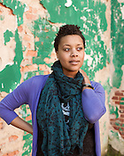 """December 14, 2012. Durham, North Carolina.. Durham native Chaunesti Webb wrote and directed """"I Love My Hair When It's Good: And Then Again When It Looks Defiant and Impressive"""" a play about the culture of African-American female beauty, which premiered at Man Bites Dog in 2012."""