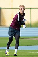 Goalkeeper Joe Hart of England during training