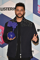 The Weeknd<br /> 2016 MTV EMAs in Ahoy Arena, Rotterdam, The Netherlands on November 06, 2016.<br /> CAP/PL<br /> &copy;Phil Loftus/Capital Pictures /MediaPunch ***NORTH AND SOUTH AMERICAS ONLY***