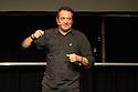 """Edinburgh, UK. 26.08.2015. Comedian and political activist, Mark Thomas, in """"Trespass"""" in the Dissection Room of Summerhall, at the Edinburgh Festival Fringe. Photograph © Jane Hobson."""