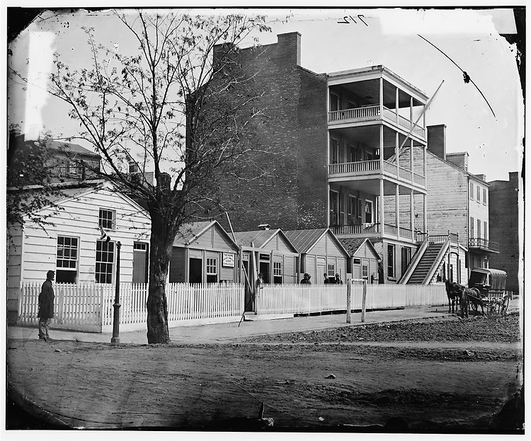 TITLE:  [Washington, D.C. Buildings of the Sanitary Commission Home Lodge for Invalid Soldiers, North Capitol near C St.].SUMMARY:  Photograph of Washington, 1862-1865, the U.S. Sanitary and Christian Commissions..CREATED/PUBLISHED:  1865 April.
