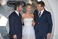 Actors Michael Sheen, Jennifer Lawrence &amp; Chris Pratt at the world premiere of &quot;Passengers&quot; at the Regency Village Theatre, Westwood. <br /> December 14, 2016<br /> Picture: Paul Smith/Featureflash/SilverHub 0208 004 5359/ 07711 972644 Editors@silverhubmedia.com