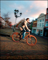 BNPS.co.uk (01202 558833)<br /> Pic: Jan Gunneweg<br /> <br /> **please use full byline**<br /> <br /> Smooth ride -- For the pice of a new family car only the keenest of riders will be willing to fork out for this bespoke bicycle made entirely from wood. Dubbed the 'Human Bike', every single part of the &pound;14,000 bike has been painstakingly hand-carved from walnut, apart from the handlebars, seat, pedals and tyres. Weighing in at 40lbs the bike is only slightly heavier than a metal-framed equivalent but offers smoother ride thanks to walnut's vibration-absorbing qualities.<br /> <br /> Dutch designer Jan Gunneweg spent hundreds of hours slaving away at the drawing board before shaping various parts of the beautiful bike on a lathe. He was inspired to bring riders closer to nature