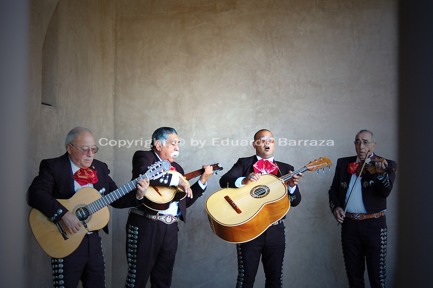 Mariachi is the most popular and distinct folklore music of the country of Mexico. Both in Mexico and the United States, Mariachi Music is widely admired. The name mariachi refers to the music itself, but also refers to the musicians or mariachis that play it. Mariachi Music is deeply embedded in Mexican and Mexican-American cultures. The popularity of Mariachi music began to increase during the first half of the 20th century. The Mexican film industry boosted Mariachi music in new heights and as classic movies of the Golden Era internationalized that featured this peculiar type of music, Mariachi Music's popularity gained fame in the United States and many other countries around the world. Mariachi music uses the following instruments: vihuela, violin, guitar, guitarron, trumpet and other unique instruments. Mariachi music is an essential part of Mexican life, and just as tequila -a famous distilled beverage made from the blue agave plant-- Mariachi Music has become an internationally-known aspect of Mexico, and its distinctive sound has become an emblematic symbol of Mexican culture. Photo by Eduardo Barraza © 2012