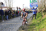 Riders climb Oude Kwaremont during the 60th edition of the Record Bank E3 Harelbeke 2017, Flanders, Belgium. 24th March 2017.<br /> Picture: Eoin Clarke   Cyclefile<br /> <br /> <br /> All photos usage must carry mandatory copyright credit (&copy; Cyclefile   Eoin Clarke)