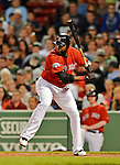 8 June 2012: Boston Red Sox designated hitter David Ortiz in action against the Washington Nationals at Fenway Park in Boston, MA. The Nationals defeated the Red Sox 7-4 in the opening game of their 3-game series. Mandatory Credit: Ed Wolfstein Photo
