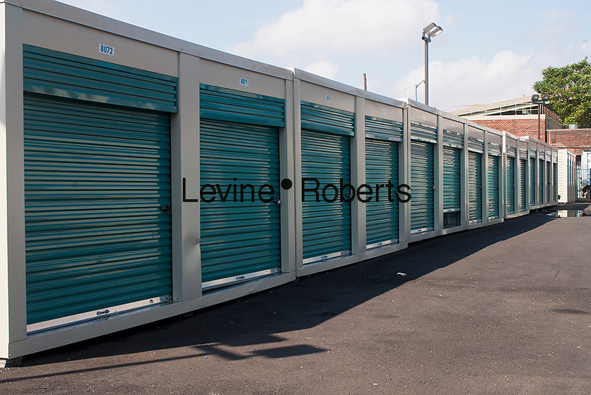 Outdoor storage locker facility in Brooklyn in New York on Saturday, September 8, 2012.  (© Richard B. Levine)