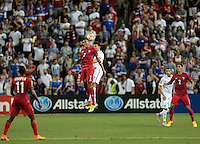 Kansas City, Kansas - Monday, July 13, 2015: Panama goes up 1-0 over the US Men's National team during group play in the 2015 Gold Cup at Sporting Park.