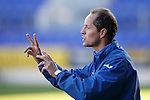 St Johnstone v Stranraer...01.11.15   Little Big Shot Youth Cup 3rd Round, McDiarmid Park, Perth<br /> Saints U20's coach Alex Cleland<br /> Picture by Graeme Hart.<br /> Copyright Perthshire Picture Agency<br /> Tel: 01738 623350  Mobile: 07990 594431