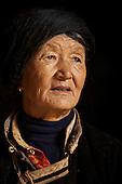 Portrait of Li (surname) La Cuo, 66, who belongs to the musui minority, at home near the legendary Lugu Hu Lake in Sichuan Province, southwestern China.