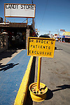 Parking space reserved for dental clientele, Los Algodones, B.C, Mexico.