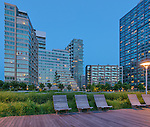 "Luxury condos ""The View"", Gantry Plaza State Park, Long Island, Queens, New York City"