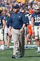 Pitt head coach Paul Chryst. The Pitt Panthers defeated the Virginia Cavaliers 14-3 at Heinz Field, Pittsburgh, PA on Saturday, September 28, 2013.