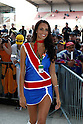 May 21, 2010 - Le Mans, France - A grid girl is pictured during the French Grand Prix on May 21, 2010. (Photo Andrew Northcott/Nippon News).