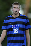 14 September 2012: Duke's Chad Bush (CAN). The Duke University Blue Devils defeated the Clemson University Tigers 2-0 at Koskinen Stadium in Durham, North Carolina in a 2012 NCAA Division I Men's Soccer game.