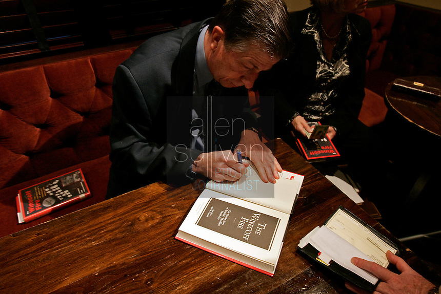"Sam Heys, co-author of ""The Winecoff Fire: The Untold Story of America?s Deadliest Hotel Fire,"" signs books at a commemoration to mark the 60th anniversary of the Winecoff Hotel fire in downtown Atlanta. The fire--the deadliest hotel fire in U.S. history--caused departments across the country to update their fire safety codes."