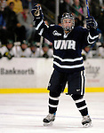 5 January 2007: University of New Hampshire defenseman Brad Flaishans (19) from Glendale, AZ, celebrates a goal against the University of Vermont Catamounts at Gutterson Fieldhouse in Burlington, Vermont. The UNH Wildcats defeated Vermont 7-1 in front of a record setting 48th consecutive sellout at &quot;the Gut&quot;...Mandatory Photo Credit: Ed Wolfstein<br />