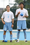 31 August 2008: UNC's Zach Loyd (3) and David Rodriguez (6). The University of North Carolina Tar Heels defeated the Virginia Commonwealth University Rams 1-0 in overtime at Fetzer Field in Chapel Hill, North Carolina in an NCAA Division I Men's college soccer game.