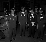 Pittsburgh PA:  US Army General Robert Wood and staff touring the new radar systems installed at the Oakdale NIKE site - 1963. The Oakdale site became the command and control center for all the regional NIKE sites after the installation.  <br />
