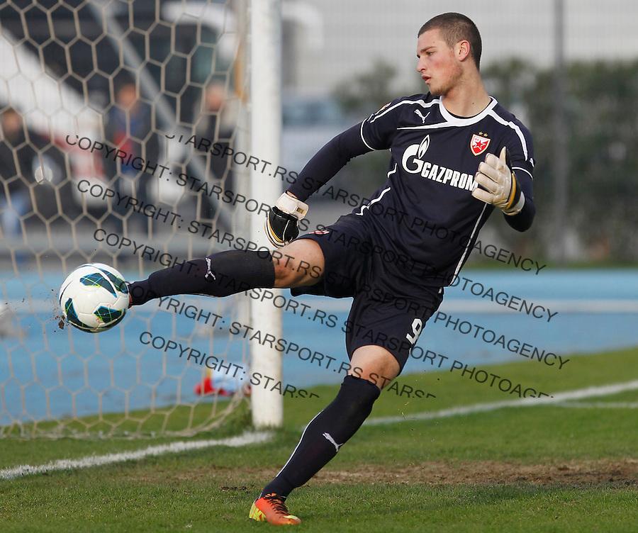 Fudbal season 2013-2014<br /> FK Crvena Zvezda pripreme Portoroz-Koper<br /> Crvena Zvezda v Ankaran<br /> Goalkeeper Predrag Rajkovic<br /> Koper 01.23.2014.<br /> foto: Srdjan Stevanovic/Starsportphoto &copy;