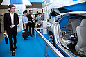 May 131, 2012, Tokyo, Japan - The next generation of electric vehicles in the Smart Grid Exhibition and Automotive Next Industry Fair at Tokyo Big Site. The Smart Grid Exhibition and Automotive Next Industry Fair 2012 shows the next generation of vehicles and manufacturing working with eco energy, from May 30th. to June 1st. at Tokyo Big Site.