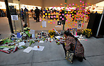 NewYork, United States, October 06, 2011..New Yorkers Pay Tribute To Former Apple CEO Steve Jobs around Manhattan in New York October 6, 2011. VIEWpress / Kena Betancur. Apple co-founder Steve Jobs died Wednesday October 5, at age 56 after a long battle with pancreatic cancer. Jobs was one of the giants of the information age, and his influence will be felt for decades to come. Here's a brief rundown of some of his greatest contributions to our increasingly tech-savvy and interconnected global society..Local media reported.