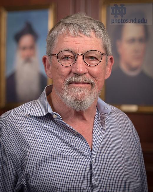April 12, 2017; Brian Smyth, Emeritus faculty portrait (Photo by Matt Cashore/University of Notre Dame)
