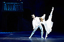 London, UK. 10.06.2014. Daria Klimentova and Vadin Muntagirov, from English National Ballet, in rehearsal for ROMEO AND JULIET, in the round, in the Royal Albert Hall. Photograph © Jane Hobson.